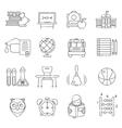 Basic Education Line Icon Set vector image