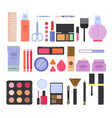 different makeup accessories for girls and women vector image