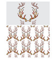 a seamless texture with antlers vector image vector image