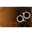 Abstract coffee design with circles vector image vector image