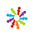 Abstract people together showing teamwork vector image vector image