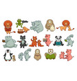 animals childish book isolated characters wildlife vector image vector image