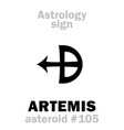 astrology asteroid artemis vector image