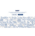baby banner design vector image vector image