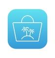 Beach bag line icon vector image vector image