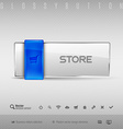 Blue and Gray Button vector image
