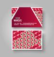 business card geometric vector image