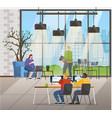 business corporation coworking characters office vector image vector image