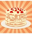 Cake on a plate vector image vector image