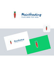 carrot logotype with business card template vector image