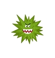 Cartoon virus character isolated vector image vector image