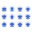 chat bot avatars robotic digital assistant avatar vector image vector image