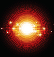 circle digital background vector image vector image