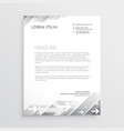 clean gray letterhead design template vector image vector image