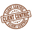 client centric brown grunge stamp vector image vector image