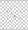 clock icon on transparent background time icon vector image vector image