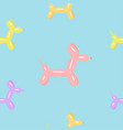 colorful dog puppy balloon seamless pattern vector image vector image