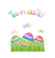 Colorful Easter eggs hiding in grass vector image vector image