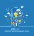 concept of big idea vector image vector image