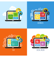 concepts of web design business social media SEO vector image