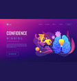 confidence and winning concept landing page vector image