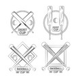 cricket and baseball emblems vector image