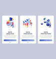 digital information isometric landing page set vector image vector image