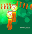 diwali glowing lamp vector image vector image
