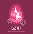 easter street event festival and fair banner vector image