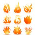 fire symbols vector image vector image