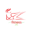 Fitness and sport girl vector image