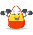 fitness candy corn character cartoon vector image vector image