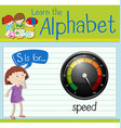 Flashcard letter S is for speed vector image vector image