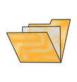 folder document symbol vector image vector image