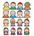 funny avatars set vector image vector image