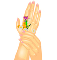 hand care vector image vector image