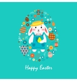 Happy easter 4 vector image vector image