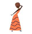 happy girl dancing and having fun at a party vector image vector image