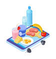 healthy diet app isometric mobile diet consultant vector image vector image