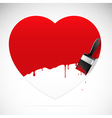 heart brush vector image vector image