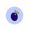 Icon Colorful Plum vector image vector image