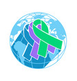 icon international awareness day vector image vector image