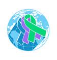 icon international awareness day vector image