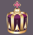 imperial crown of gold vector image vector image