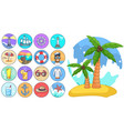 jeju palm tree isolated at white cartoon style vector image vector image