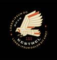 kestrel bird badge logo icon vector image vector image