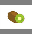 kiwi whole fruit and halfsummer fruits vector image