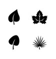 leaf organic plant simple related icons vector image