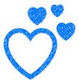 love hearts grunge icon vector image vector image