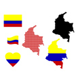 map of Colombia vector image vector image